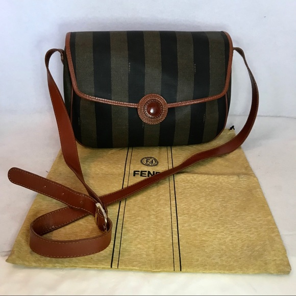 2ee5353831a1 Fendi Handbags - Auth FENDI Pequin Striped Crossbody w  Dust Bag